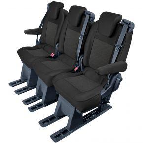 Autopoťahy na mieru Tailor Made pre FORD TOURNEO CUSTOM (2018→) pre 2. alebo 3. rad sedadiel