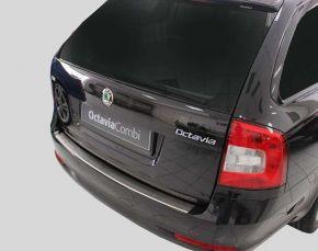 Ochranná nerezová lišta zadného náraznika pre Skoda Octavia II Facelift Combi