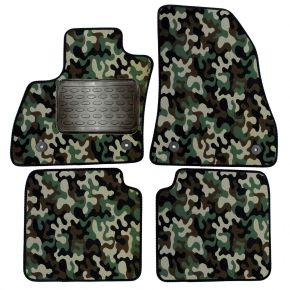 Maskačové textilné koberce pre Fiat 500L 2012-up 4 ks