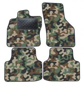 Maskačové textilné koberce pre Skoda Octavia III  2013-up  4ks
