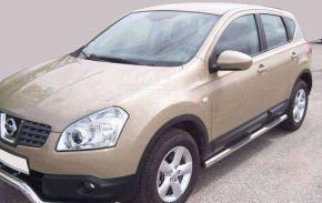 Bočné nerezové rámy pre Nissan Qashqai 2007-2013
