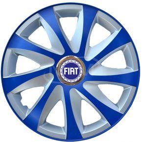 """Puklice pre FIAT 14"""", DRIFT EXTRA modro-strieborné  4ks"""