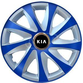 """Puklice pre KIA 15"""", DRIFT EXTRA modro-strieborné  4ks"""