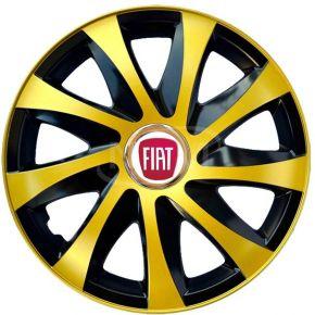"Puklice pre FIAT 15"", DRIFT EXTRA zlaté 4ks"