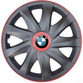 """Puklice pre BMW 16"""", KANDO RACE červené 4ks"""
