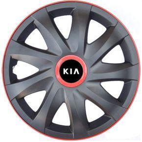 """Puklice pre KIA 16"""", KANDO RACE červené 4ks"""