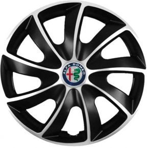 "Puklice pre Alfa Romeo 15"", Quad bicolor, 4 ks"