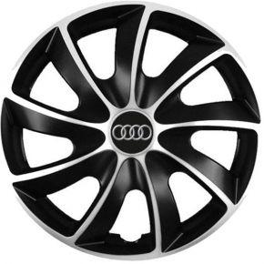 """Puklice pre Audi 17"""", Quad bicolor, 4 ks"""