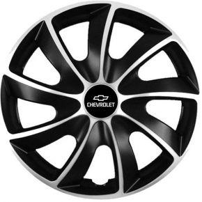"Puklice pre Chevrolet 15"", Quad bicolor, 4 ks"