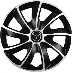 """Puklice pre Mazda 16"""", Quad bicolor 4 ks"""