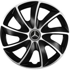 """Puklice pre Mercedes 14"""", Quad bicolor, 4 ks"""