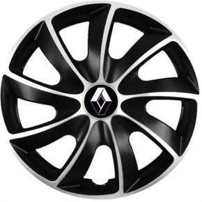 """Puklice pre Renault 17"""", Quad bicolor, 4 ks"""