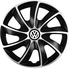 "Puklice pre Volkswagen 17"", Quad bicolor, 4 ks"