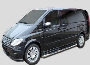 Bočné nerezové rámy pre Mercedes Vito W639 SWB 2005-2013
