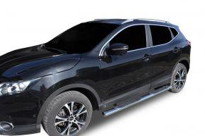 """Bočné nerezové rámy pre Nissan Qashqai 2014-2019 4"""" oval"""