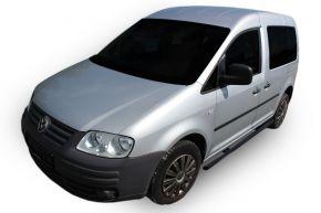 Bočné nerezové rámy pre Volkswagen Caddy 2003-2015, 60,3 mm BLACK