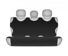 Autotriko COTTON na zadnú nedelenú sedačku čierne pre dodávky mikrobusy