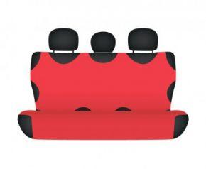 Autotriko COTTON na zadnú nedelenú sedačku červené pre dodávky mikrobusy