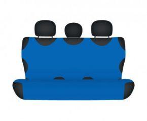 Autotriko COTTON na zadnú nedelenú sedačku modré pre dodávky mikrobusy