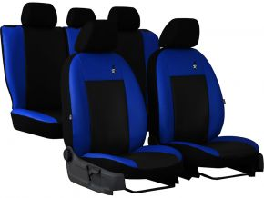 Autopoťahy univerzálne kožené ROAD modré