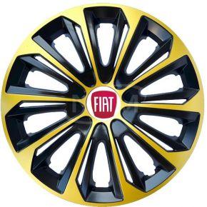 "Puklice pre FIAT 15"", STRONG EXTRA zlaté 4ks"